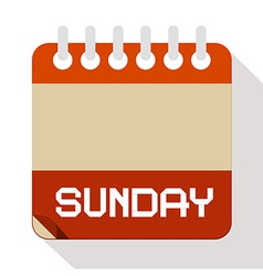 Sunday Paper Calendar vector