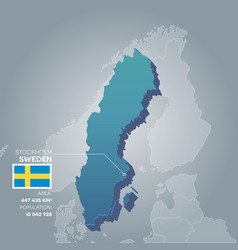 sweden information map vector image