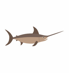 swordfish isolated on white vector image