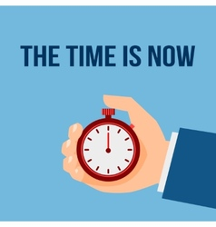 Time management stop watch poster vector