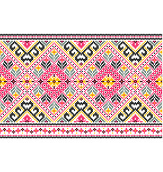 Tribal seamless pattern ethnic style vector