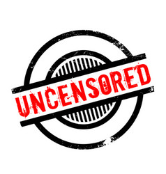 Uncensored rubber stamp vector