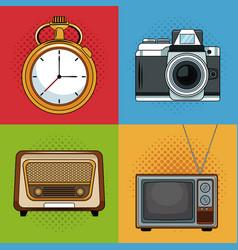 Vintage media pop art cartoon vector
