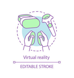 Virtual reality concept icon vector