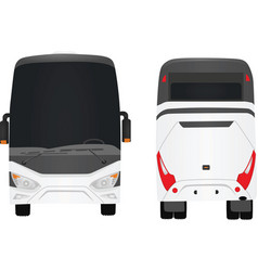 White bus vector