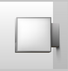 white square signboard on background vector image