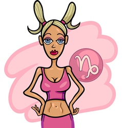 woman cartoon capricorn sign vector image