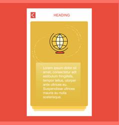 world globe mobile vertical banner design design vector image