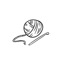Yarn doodle for print logo creative design vector