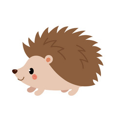 adorable hedgehog in modern flat style vector image