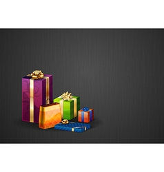 christmas background dark vector image