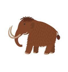 happy mammoth icon in cartoon style vector image vector image