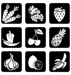 icon food vector image vector image