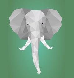 Low polygonal elephant head vector image