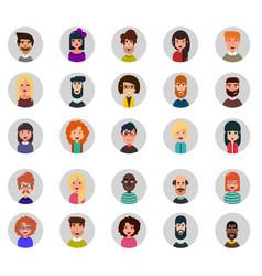 set of twenty five avatar icons flat style vector image vector image