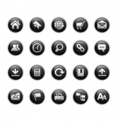web site icons vector image vector image