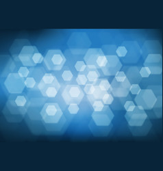 abstract white hexagon bokeh light blur vector image vector image