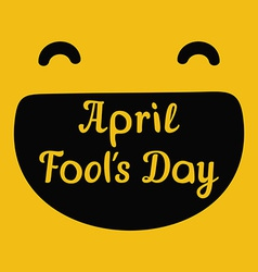 April Fools Day design with smiley face and text vector image