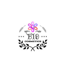 badge as part of the design - cosmetics logo vector image vector image