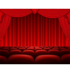 Cinema or theater scene background vector image vector image