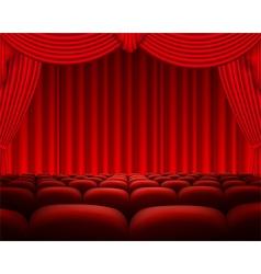 Cinema or theater scene background vector image