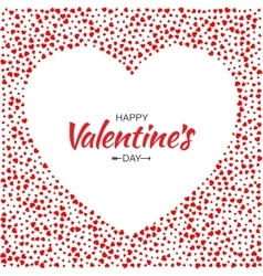 Red Hearts Frame Background Valentines Day Card vector image vector image
