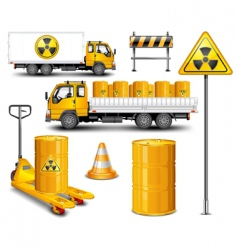 transport with radioactive waste vector image vector image