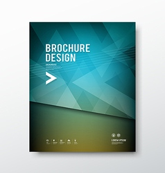 Cover brochure abstract triangle design blue backg vector image vector image