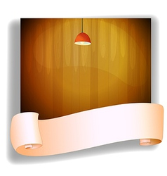 A red lampshde above an empty signage vector image vector image