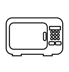 oven microwave isolated icon design vector image vector image