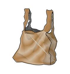 plastic shopping bag market handle retail icon vector image