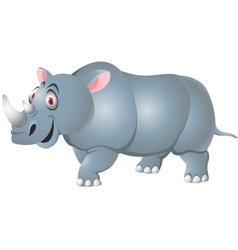Rhino cartoon isolated vector