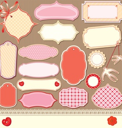 vintage design elements - different labels vector image vector image