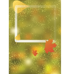 autumn background with frame vector image