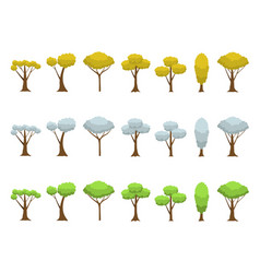 autumn winter spring trees vector image