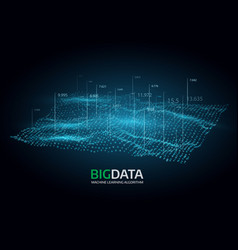 big data visualization futuristic vector image