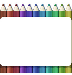 Blank white frame on background with set of cute vector