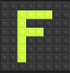 blocks in english capital letter f alphabet set vector image