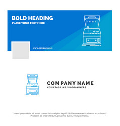 blue business logo template for arcade console vector image
