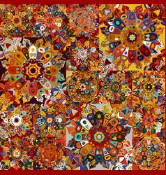 boho tile set and seamless pattern extravaganza vector image