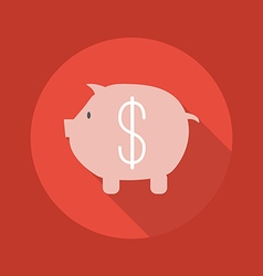 Business Flat Icon Piggy Bank vector