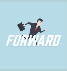 businessman running with forward message vector image