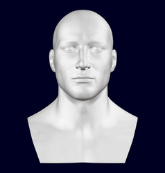 Bust of a man front view 3d vector