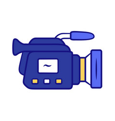 Camera blue color icon camcorder videotaping vector