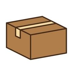 Carton box packing vector