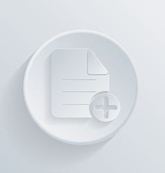Circle icon with a shadow page of the document vector