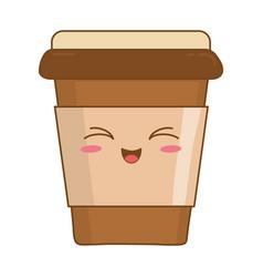 Coffee drink kawaii character vector