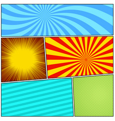 comic page background vector image