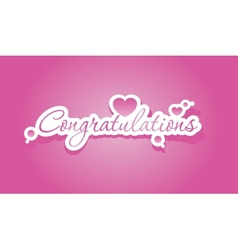 Congratulations lettering vector image