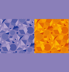 cool and fun geometric seamless pattern vector image